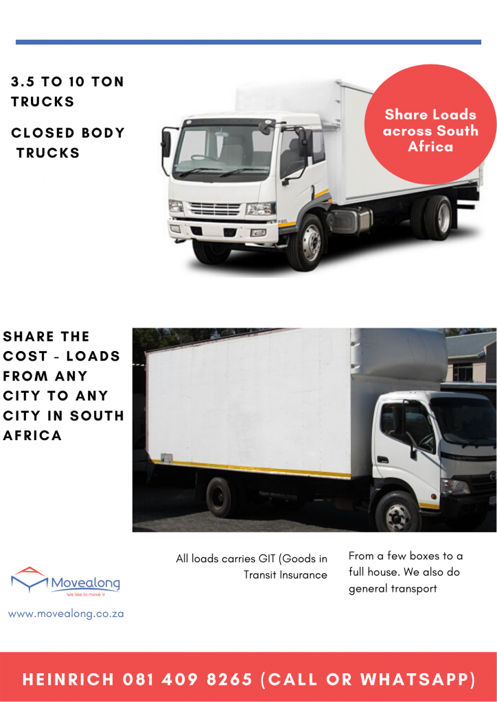 share loads trasnport south africa